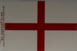 England Country Flag Rectangular Decal.